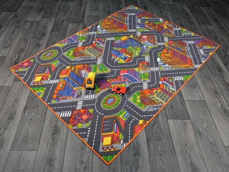 tappeto gioco con città