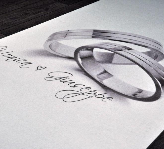 passatoia matrimonio disegno anelli