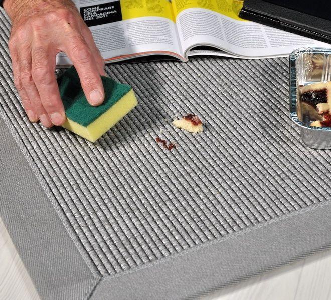 tappeto in tessuto tecnico facile da pulire