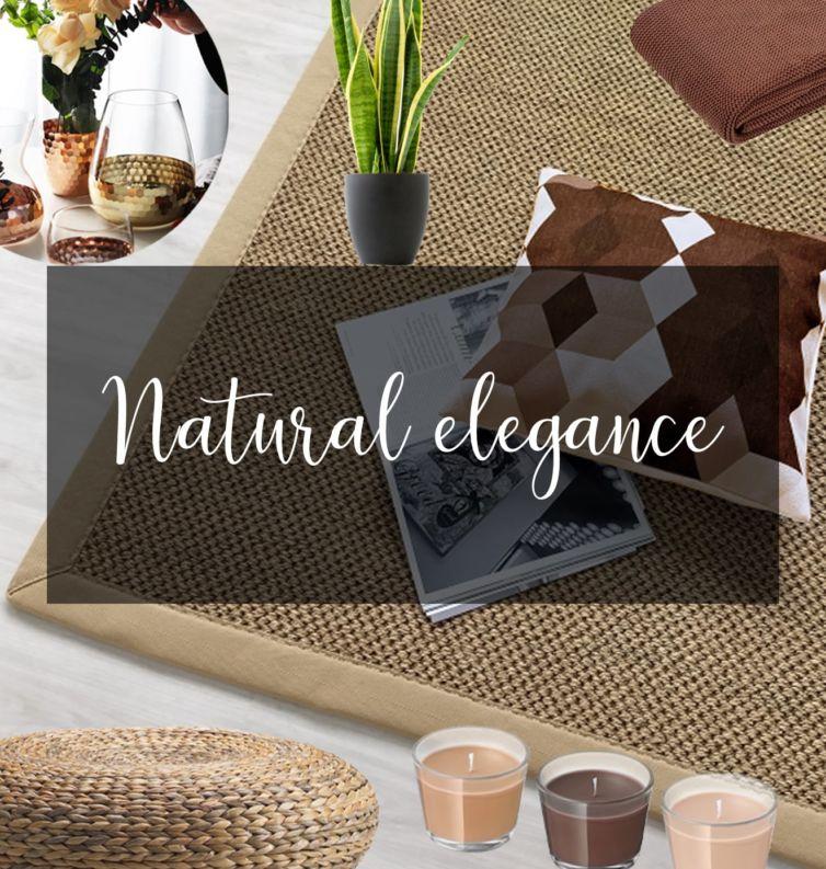 tappeto naturale con accessori naturali