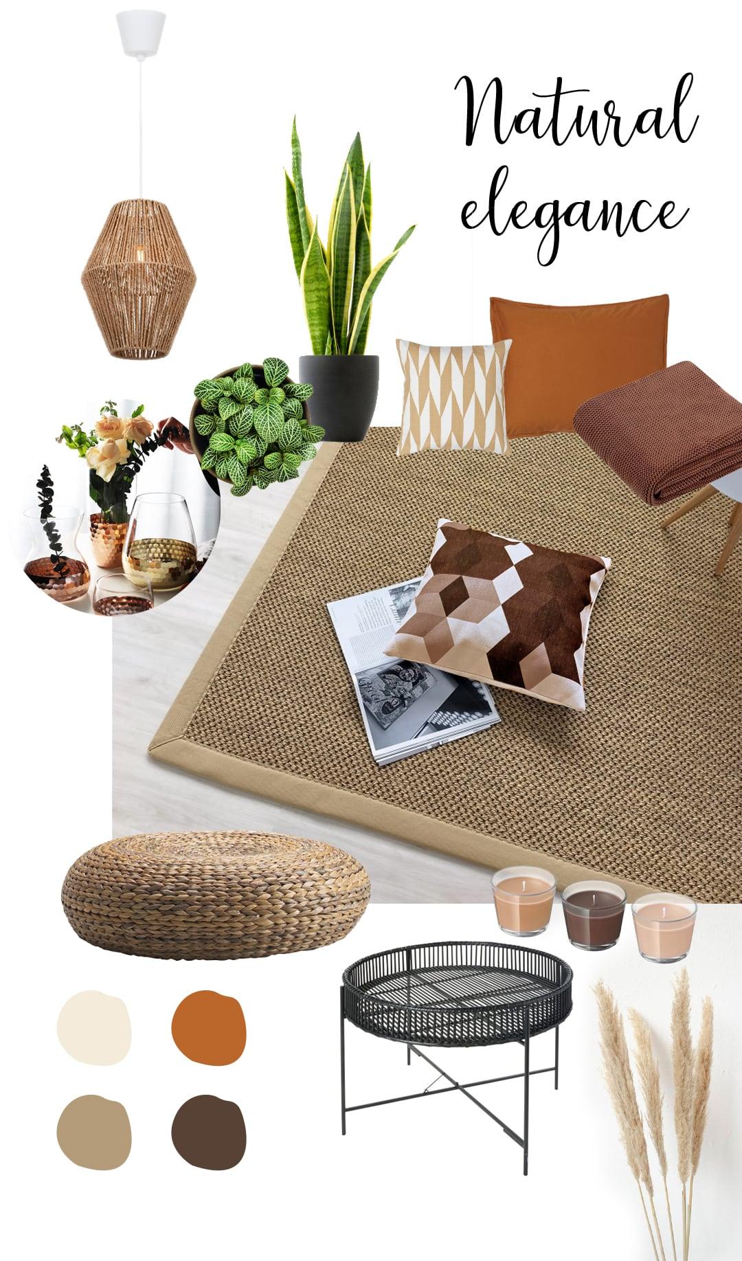 idee per abbinare tappeto naturale